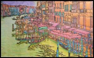 Venice-Grand-Canal-silk-art-quilt